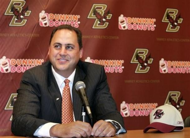 Jeff Jagondzinski  the now former coach of  the Boston College  Eagles ..................