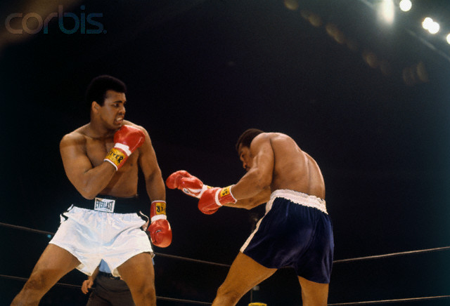 Ali  and  Norton   face  off  against  each other  in of  their much  heralded  bouts .