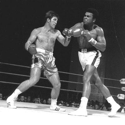 Ali   faces   Jerry   Quarry   in   his  comeback   fight  at  the  City  Auditorium   in  Atlanta,  Ga