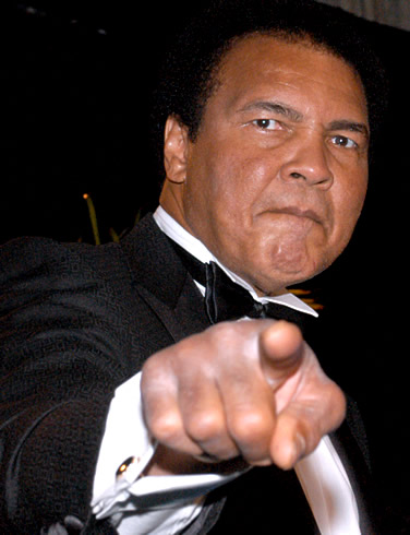 Ali  seen  here  at  a    black  tie  affair   ,  though  cheerful  and   irreverent   . He's   nowhere   near  the person  we  once   idolized  as  a  fan  .        picture appears   courtesy of   askmen.com/ celebtrities/sports-icons/   Brett  Stephenson  ......................