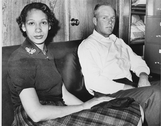 Mildred  Loving  and her husband  Richard  Loving     shown  here  in  January  of   1965  in their   home .    The   couple  were   part  of  a  landmark   ruling   by  the  US  Supreme   Court  that  allowed   interracial   marriage .  The  ruling   was   in a case   brought  against the  state   of Virginia    in  1967  . Which  they  ended   up  winning  and  in  essence  it   brought  about  a  social   change  that  had   wide   reaching   ramifications   across  the   country  with  regard  to   race  relations and   that   of    interracial  relationships .       picture  appears   courtesy  of   ap/photo/  Richard  Cutler   .........................