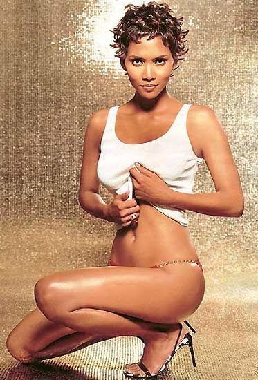 The delightful  Halle' Berry