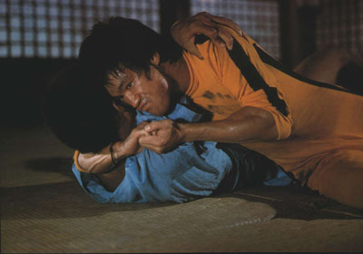 The  penultimate   scene  from   the  movie  as Kareem meets his  demise  at  the  hands   of Lee in the  movie -  Game  Of Death