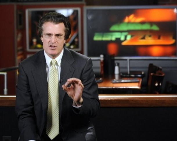 ESPN's  college football analyst and NFL Draft guru,  Mel Kiper  Jr, seen here discussing  April's NFL Draft  from the  cable outlet's facility in Baltimore ,  Maryland,.  Kiper never  seems to be at a  loss for words  when it comes  to the  world  of  collegiate or  NFL football.  He'll  put 'it'  out there   as  to his  thoughts on  NFL  draft  prospects  be  they right  or  wrong.  And  rarely will  you hear him offer  a  thought  on  his prognostications when  they  in fact turn  out  to be  horrendously  wrong.  Can  someone  please remind  him  that  Akili Smith is  no  longer in the  NFL ?  A  player  whom he  admired  from afar  and  was  bold enough to suggest  that  Smith  would  become  a  major star  and  a  multiple time  Pro Bowler  in the  league.  None  of  which , ever  came to the  fore . I  wonder why  ?   picture  appears  courtesy  fo  ap/photo/ Gail Burton  ..................