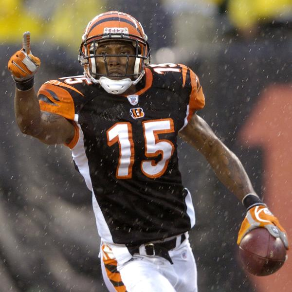 Cincinnati Bengals receiver Chris Henry celebrates after catching a touchdown pass against the Pittsburgh Steelers in a football game in Cincinnati, in this Dec. 31, 2006 . picture appears courtesy of  ap/photo/ David Kohl  ...............