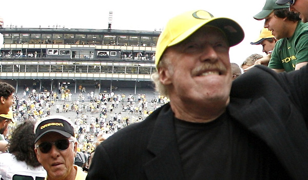 Nike  co-founder   , Phil Knight  .    picture  appears  courtessy  of Business  Week /Getty  Images/  Stan   Strouther   .............
