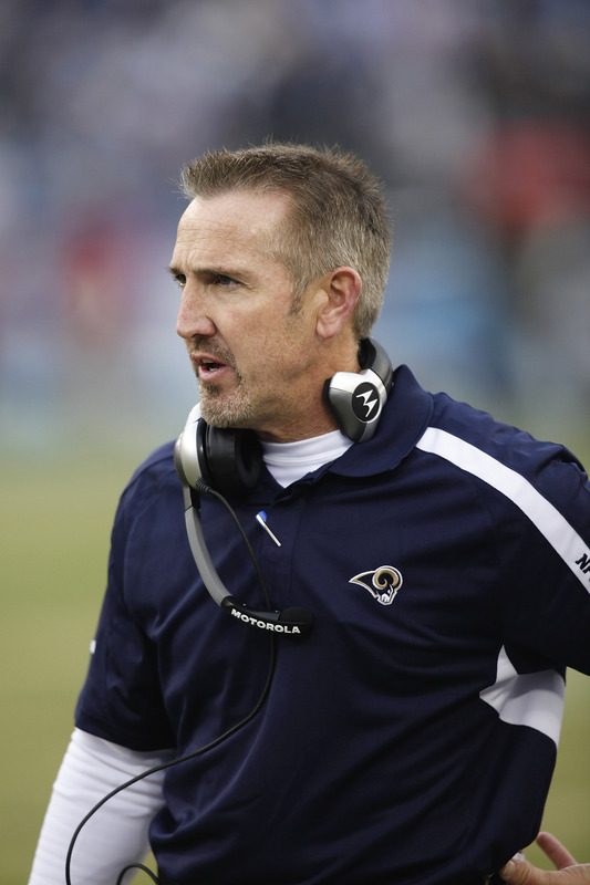 Nashville, Tn,  December 13th, 2009.  Head coach Steve Spagnuolo of the St. Louis Rams looks on against the Tennessee Titans at LP Field in Nashville, Tennessee. The Titans defeated the Rams 47-7.   picture  appears courtesy of  Getty Images/  Joe Robbins   ............