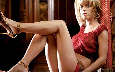 The delectable  Taryn Manning  who  in Craig Brewer's  critically and commercially  acclaimed film  'Hustle & Flow' played the  hooker  with  a  'heart of gold'  .   She co-starred alongside  Terrence Howard, Taraji P. Henson, Chris 'Ludacris' Bridges  and  Anthony  Anderson .  For which  Howard  received  an  Oscar  nomination  nod  and went  on to 'leading man status'  after the role.  Given the Giants'  fortunes of as of late , this'd  be   the  Manning that  I'd prefer to  see  instead  of  their  quarterback , Eli  Manning.   picture appears courtesy  of  FHM / Chris Howard ............
