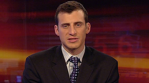 Doug Gottlieb , ESPN  College  Basketball  analyst   and  host of their  college  game  day  show  covering   the   sport.    photo  appears   courtesy  of   espngo.com  .............