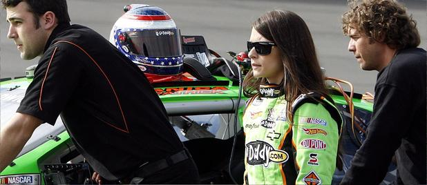 Danica  Patrick seen  here  at   Fontana International   Speedway,  Fontana ,  California.