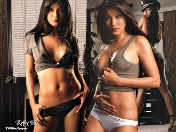 The <strong> <em>'delectable'</em>  Kelly  Hu </strong>.   That's <strong> one   hell of   a  tasty  piece  of <em>  'Asian  American   femme-fatale' </em> that  I'd   love  do  the  rounds  with  and  then  some</strong>  !