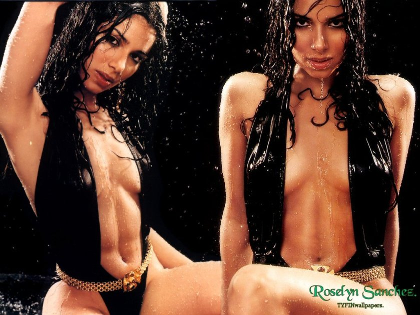 <strong>  Wet  that's  how  I  for  one   would  like to see  Roselyn  Sanchez  !  </strong>  Is  there really  any  other  way   to  view  her  ?