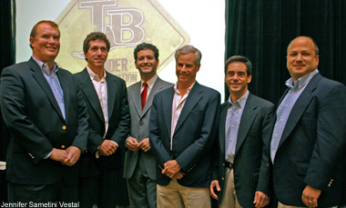 Stuart Sternberg (3rd from l) With Partners Timothy Mullen, Randy Frankel, Andrew Cader, Gary Goldring and Stephen Levick