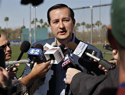 Chicago Cubs owner Tom Ricketts speaks to the media Tuesday, Feb. 23, 2010 at the Chicago Cubs spring training facility in Mesa, Ariz. photo appears  Assoc. Press/ Matt  York  ....