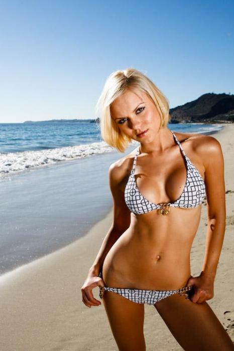 Russian  actress  &  model   Anya Monzikova  .   Who   wouldn't   want  some  of Monzikova    alongside  some  fresh  Beluga   caviar  ?