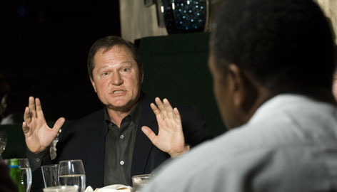 """Scott Boras, chided for bonus demands for amateur clients, says the Major League Baseball draft needs restructuring. """"In this system, everybody thinks this is about money. No, this is about saving money. It allows for less mistakes,"""" he says."""