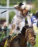 Calvin Borel on board Kentucky Derby winner Super Saver . Getty Images/ Jamie Squires ... ..............