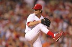 Jamie Moyer of the Phillies pitches during the game played against the New York Mets at Citizens Bank Park on May 2, 2010 in Philadelphia. Getty Images / Hunter Martin ...........
