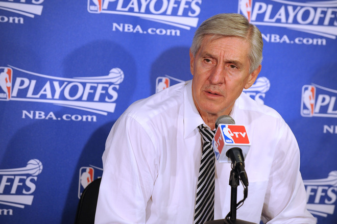 "<font face=""andalus"" size=""3"">  Head Coach Jerry Sloan of the Utah Jazz fields questions from the media following his team's loss to the Los Angeles Lakers in Game Two of the Western Conference Semifinals during the 2010 NBA Playoffs at Staples Center on May 4, 2010 in Los Angeles, California.  NBAE Getty Images _  Andrew  D  Bernstein   </font>"