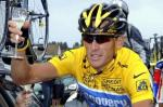 Lance Armstrong on his way to victory having been assured of having achieved the unprecedented feat of winning his seventh consecutive Tour De France. This victory Armstrong's last was achieved in 2005. picture appears courtesy of afp/bongarts/ Rene Marchand ............