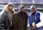 Former New York Giants L-R: Carl Banks, Lawrence Taylor and Harry Carson on the sidelines before an NFC wildcard game January 8, 2006 at the Meadowlands. The Carolina Panthers defeated the Giants 23 - 0. Photo by Al Messerschmidt/Getty Images ..........