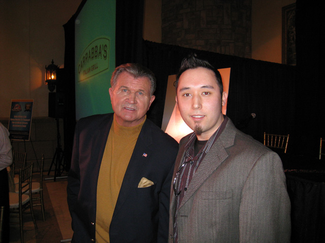 Ditka seen here alongside Tom Edwards (right) . @ copyrighted material all rights reserved ...........