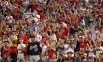Philadelphia Phillies cheer a home against the New York Mets during a game played at Citizens Bank Park on May 2, 2010 in Philadelphia, Pennsylvania. Getty Images / Hunter Martin ..........
