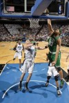 Rasheed Wallace (30) of the Boston Celtics dunks against Marcin Gortat (13) of the Orlando Magic in Game One of the Eastern Conference Finals during the 2010 NBA Playoffs on May 16, 2010 at Amway Arena in Orlando, Florida. NBAE/Getty Images/ Fernando Medina ...........