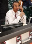 Former NBA player and now TNT on air personality Reggie Miller . courtesy of TNT TV @ copyrighted material ........... all rights reserved