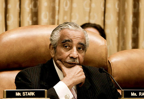 Rep Charles Rangel (D-Ny) . The most senior Democrat on the House Ways & Means Committee. Rangel a former chairman of the committee had to step down after being embroiled in a rather embarrassing gaffe concerning the none payment of taxes and some other financial irregularities. Censured he wasn't not removed the comittee. Associated Press / Harry Hamburg ...............
