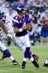 Minnesota Vikings quarterback Brett Favre (4) throws during an NFL football game against the New York Giants Sunday, Jan. 3, 2010 in Minneapolis. (AP Photo/Jim Mone)