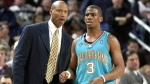 Byron Scott the former Hornets' coach is seen here with mentoree Chris Paul the celebrated point guard of the team. Associated Press / Mark Moran .........