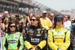 Danica Patrick (left), Simona de Silvestro (center) and Ana Beatriz (right) are just three of the four female competitors that took part in the Indy 500 at Indianapolis Motor Speedway , Indiana , Indianaplolis this past Sunday . Getty Images / Simon Abruzzo ...........