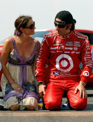 Dario Franchitti of Scotland, driver of the #10 Target Chip Ganassi Racing Dallara Honda, celebrates with his wife Ashley Judd in victory lane after winning the IZOD IndyCar Series 94th running of the Indianapolis 500 at the Indianapolis Motor Speedway on May 30, 2010 in Indianapolis, Indiana. Photo by Chris Graythen/Getty Images ............