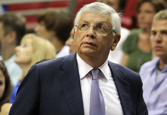"""NBA Commissioner David J Stern who recently fined Mavericks' owner Mark Cuban $100,000-00 for what he termed """"tampering"""" because Cuban expressed his opinions as to where he thought NBA league MVP LeBron James might end up during the impending offseason. Cuban at the time made no indication that the Mavericks had expressed an interest in signing the player. Getty Images/ Doug Benc .........."""
