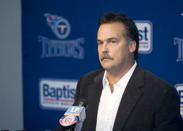 Tennessee Titans Coach Jeff Fisher speaks at a press conference in reaction to the death of former Titan star quarterback Steve McNair July 6, 2009 in Nashville, Tennessee. McNair was found shot to death in a Nashville condominium on July 4th, his girlfreinds' body was also found at the scene. Rusty Russell/Getty Images North America