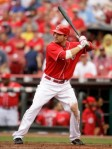Reds' first baseman Joey Votto who has had an inspirational first half to the season as he and the Reds have fought for dominance in the NL Central against the St Louis Cardinals . Getty Images/ Kent Carlson ...........