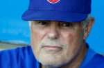 Chicago Cubs manager Lou Piniella talks with reports before a baseball game against the Pittsburgh Pirates, Wednesday, May 5, 2010 in Pittsburgh. The Pirates won 4-2. AP Photo/Gene J. Puskar ....