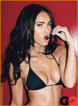 """Actress Megan Fox who's now beceome a staple of the male oriented magazines. The actress was recently relieved of her role in the now in production """"Transformers III"""" . Fox and director Michael Bay came to a parting of the ways and the dissolvement of her role was a contentious one. Which both parties denying the others' claims as to the reasons for the split."""