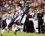 Owens on the move makes a superb aerial catch in Superbowl 39 (SBXXXIX) played at Altell Stadium Jacksonville Florida , February 2005. Cullum Hughes ......