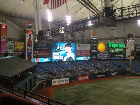 Tropicana Field St Petersburg, Florida home to the Tampa Bay Rays. courtesy of St Petersburg Times ...