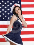 We love a patriotic girl in uniform !