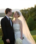 In this handout image provided by Barbara Kinney, Marc Mezvinsky (L) and Chelsea Clinton pose during their wedding at the Astor Courts Estate on July 31, 2010 in Rhinebeck, New York. Chelsea Clinton, the daughter of former U.S. President Bill Clinton and Secretary of State Hillary Clinton, married Marc Mezvinsky today in an interfaith ceremony at the estate built by John Jacob Astor on the Hudson River about two hours north of New York City. courtesy of Getty Images/ North America ........