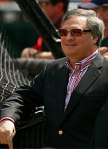 Florida Marlins' owner Jeffrey Loria whose actions and that of the team's front office in misleading the governmental agencies of Miami Dade County the city of Miami and that the of the state of Florida has proven to be embarrassing for the owner and the hierarchy of MLB . Getty Images / Doug Benc ..........