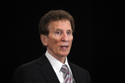 Mike Ilitch, in Detroit. Ilitch, the owner of the Detroit Tigers and Detroit Red Wings says he wants to buy the NBA's Detroit Pistons. Ilitch said Monday, Aug. 9, 2010, he is interested in purchasing the basketball team in part because he fears the area could lose it if an out-of-town buyer comes forward.