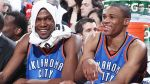 Talents like Kevin Durant and Russell Westbrook? Players who enjoy each other? What's not to like? Getty Images / Sam Forencich ........