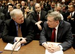Former MLBPA Executive Director Donald Fehr (l.) and commissioner Bud Selig headline the sports executives facing a congressional committee to talk about steroids in sports. Associated Press / Ed Walsh