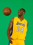 """font face=""""sylfaen"""" size=""""3""""> Kobe Bryant (24) of the Los Angeles Lakers tapes a television segment during Media Day at the Toyota Center on September 25, 2010 in El Segundo, California. Photo by Kevork Djansezian/Getty Images"""