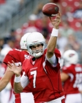 Arizona Cardinals quarterback Matt Leinart warms up before playing an NFL pre season football game against the Houston Texans on Saturday, Aug. 14, 2010, in Glendale, Ariz. AP Photo/Rick Scuteri ....
