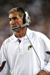 Landover, Md,. Head coach Mike Shanahan of the Washington Redskins coaches during the NFL season opener against the Dallas Cowboys at FedExField on September 12, 2010 in Landover, Maryland. The Redskins defeated the Cowboys 13-7 . Larry French/Getty Images